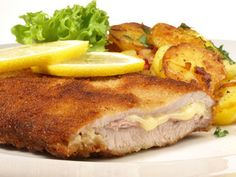Cordon bleu - Rezept, no chicken ! Easy French Recipes, Swiss Recipes, German Recipes, Food Menu, A Food, Food And Drink, Best Food Ever, French Food, Soul Food