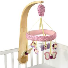 Little Bird Told Me Luxury Cot Mobile Pink available online at http://www.babycity.co.uk/