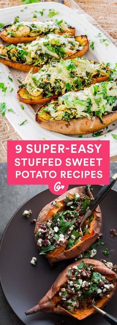 The key to making meal prep both feasible and desirable is finding mouth-watering meals that are super versatile #sweetpotato #recipes http://greatist.com/eat/stuffed-sweet-potato-recipes