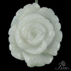 Hand carved Pendant Flower Pendant Peony Pendant Clothes Pendant F10195 #PDN #Pendant