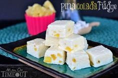 Tropical Pina Colada Fudge | TheBestDessertRecipes.com