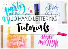 10+ Hand Lettering Tutorials. Ten fun lettering tutorials to inspire you and help you practice new styles of hand lettering!