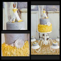 Teepee baby shower cake.
