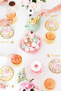 a tea party with BHLDN