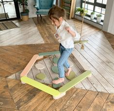 Wooden Playset, Wood Steps, Rope Swing, Balance Beam, Unique Toys, Imaginative Play, Painting For Kids, Real Wood, Montessori