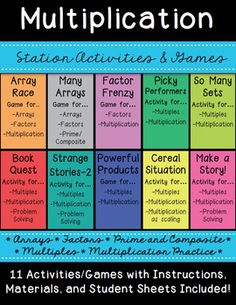 This is a Bundle of eleven activities that can be used as group/center/menu stations for students during workshop class time. For each Activity you can find all the materials you will need as well as a student recording sheet. *I make a booklet with these recording sheets so students can track their