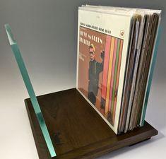 Peruvian Walnut LP Vinyl Record Storage stand by RevolverLP