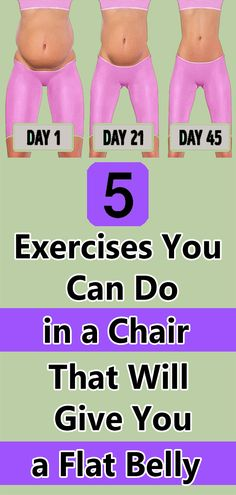 Health Discover 5 Exercises You Can Do in a Chair That Will Give You a Flat Belly Health And Fitness Tips, Fitness Diet, Health And Beauty, Health And Wellness, Health Tips, Wellness Fitness, Easy Workouts, At Home Workouts, Yoga Workouts