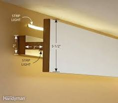 Image result for down lighting cornice