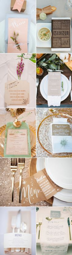 30 Creative Wedding Menu Ideas - place setting