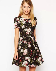 Find More Dresses Information about 2015 Spring/Summer Women Short Sleeve Printed Dresses,Good Quality Fashionable Thin Waist O neck Pullover Print Flower  Dress ,High Quality dress up casual dress,China dress long sleeve tunic dress Suppliers, Cheap dress stripe from Hurston Import & Export Co., Ltd on Aliexpress.com