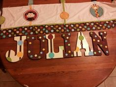 """Nursery name hand painted""""Jungle tales"""" by Nojo"""