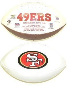 San Francisco 49ers Embroidered Autograph Football