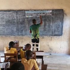 nice Instructor In Ghana Teaches 'MS Word' On Blackboard, And You Need to See It From Up Near Actually Value It