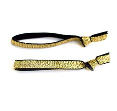 Gold and Black Shimmer Hair Ties