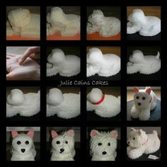 How to create a Westie cake ..... Julie Cain's Cakes .....