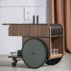 Deco Design, Wood Design, Table Furniture, Furniture Design, Bar Trolley, Coffee Carts, Metal Shelves, Shelf Design, Furniture Inspiration