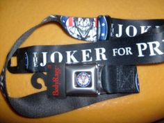 DC COMIC JOKER FOR PRESIDENT BUCKLE DOWN ADJUSTABLE SEATBELT POLYESTER BELT OSFM #BUCKLEDOWN