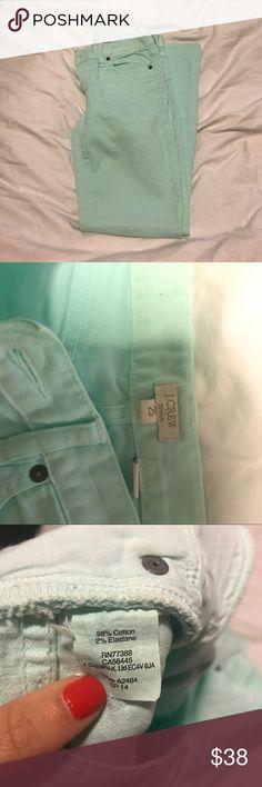 JCREW Tiffany Blue Jeans (25) NWOT | Tiffany blue jeans | 25 J. Crew Jeans Skinny