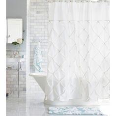 Threshold™ Pinch Pleat Shower Curtain - Snow White : Target