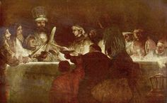 """""""A Conspiração de Claudius Civilis"""".  (1661/1662).      (by Rembrandt)."""