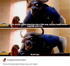 When the best joke of all time happened. | 22 Tumblr Posts That Prove Disney Has The Funniest Fans