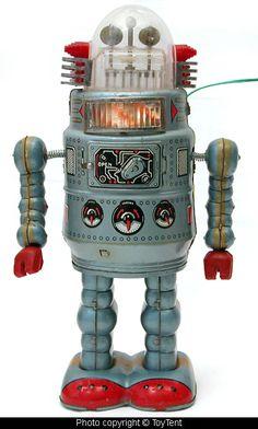 Japanese ALPS tin robot 1957. Dopest I've ever seen. Copyright @toytent.