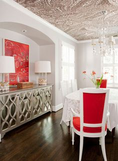 Dining Room -- Love the niche,  buffet and ceiling.