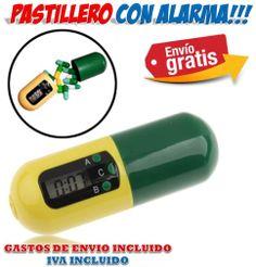 #gadgets #regalos #novedades #ofertas #descuentos #originales #inventos El pastillero con alarma resulta ideal como regalo a las personas que necesiten cumplir con un programa de medicación. http://www.yougamebay.com/es/product/bola-luz-led-decorativo-multicolor-gadget-luz-led-lampara-mesita-de-noche