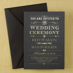 Gorgeous Selection of Black Wedding Invitations!