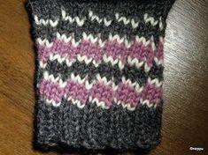 """""""Laiskanraitaa"""" (only in finnish. Knitting Stitches, Knitting Socks, Tunisian Crochet, Knit Crochet, Knit Basket, Wool Socks, Designer Socks, Crochet Chart, Knitted Gloves"""