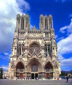 Catedral de Notre-Dame de Reims em França, foto de França, imagens de França