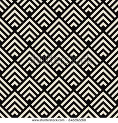art deco black and white texture. seamless geometric pattern. - stock vector