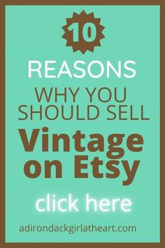 Vintage Market Days, Vintage Shops, Vintage Antiques, Vintage Items, Make More Money, Make And Sell, Market Day Ideas, What To Make, Sell On Etsy