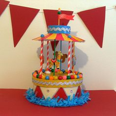 Carousel/Merry Go Round Birthday Centerpiece/Gift Box/Decoration. $90.00, via Etsy.