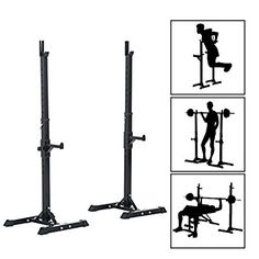 Homcom Heavy Duty Weights Bar Barbell Squat Stand Stands Barbell Rack Spotter GYM Fitness Power Rack Holder Bench New: Amazon.co.uk: Garden & Outdoors