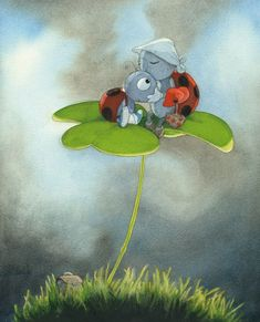 Mommy ladybug, illustration Quentin Greban