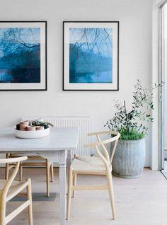 colors and mid-century  design Hans Wegner Wishbone Chair for Carl Hansen & Son (c. 1950) / via Domaine Home