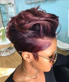 2018 Winter Hair Color Ideas for Black Women. Bold and Vibrant hair color shades for the winter 2018 season. This winter it's time to break free from mundane hair shades of black and brown an… color ideas for black women Hair Color Purple, Short Hair Colors, Hair Color Highlights, Hair Color Shades, Winter Hairstyles, Burgundy Hairstyles, Anime Hairstyles, Simple Hairstyles, Retro Hairstyles