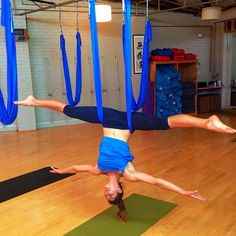 Tried to do this tonight it's hard! aerial yoga <3