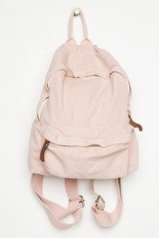 Brandy Melville John Gaul mini backpack pink J. Galt USA s mini cotton  backpack in light pink with a top handle d71754afd0102