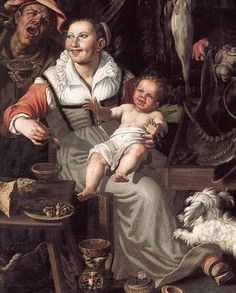 Italian working class, 1580s. Vicenzo Campi: The Fishmongers, Pinacoteca di Brera, Milan