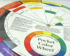 Color Wheel Mixing Guide Color Matching Guide by BusyLittleBird