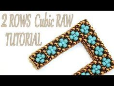 Cubic RAW beading Tutorial without Pictures - 2 Rows CRAW Pattern - Bead Cubic Right Angle Weave - YouTube