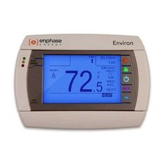Enphase Energy EVRN-RT-01 Environ Smart Thermostat for Inverters by Enphase Energy. $435.00. Easy Installation:   1. Remove old thermostat. Connect wires to Environ. Anchor to wall.  2. Insert ZigBee USB stick into Envoy. Confirm detection of Environ.  3. Log in to Enlighten to activate Environ. Start controlling indoor climate from the web.