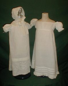 Group of Early 1820's Children's Clothing two Dresses & Bonnet | eBay Fiddybee