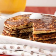 These banana chocolate chip gluten-free pancakes are light, fluffy and ridiculously filling.