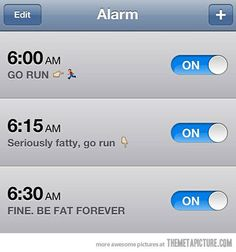 Running motivation alarm - Motivation Blog - Motivation quotes