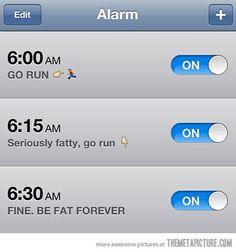 Running motivation alarm - Motivation Blog - Motivation quotes