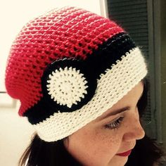 andddd, the pokeball slouch beanie is complete! pattern finished as well! I'll post it soon!